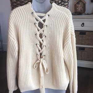 Open Tie Up Sweater